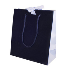 2018 FREE SAMPLES china wholesale black kraft paper bags with twisted handles