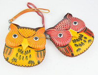 cheao PU leather owl shape fancy ladies purse with should strap