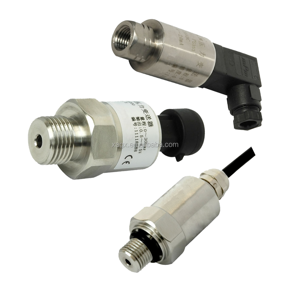 Low cost water oil fuel pressure sensor