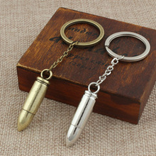 Fashion Personalitiy Design Silver Gold Plating Metal Bullet Keychain