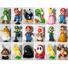 Set of 18pcs mini toy figures Quite hot selling action figures Super Mario PVC action figure