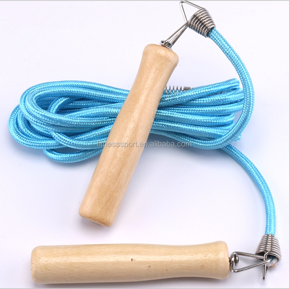 light weight skipping jump rope wood handle for fitness training