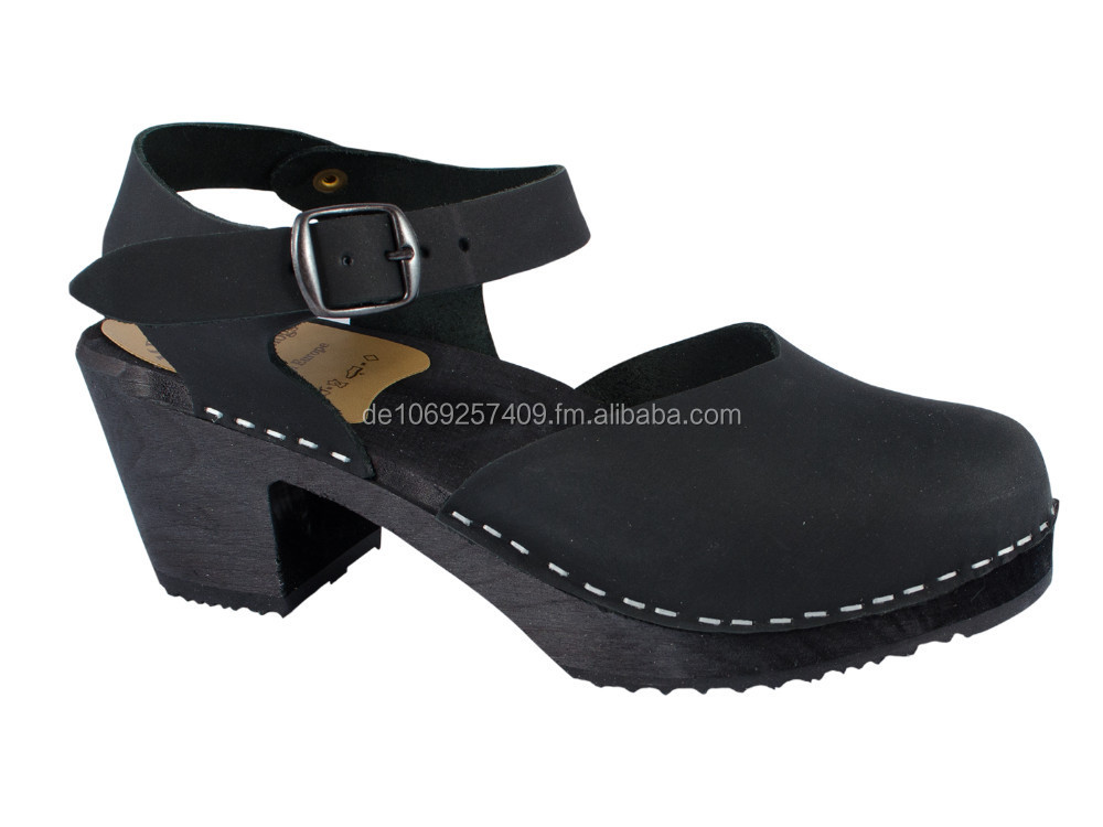 Original Swedish Clogs Sandal Oiled leather black
