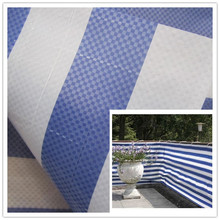 large stripe woven fabric PE tarpaulin for football field cover