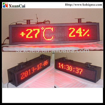 Outdoor double sides Red color RF wireless communication P10-16x96R LED advertising screen price