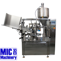 MIC-R60 emulsion latex Plastic soft Tube Filling and Sealing Machine can reach 60-80 tubes/min with ce