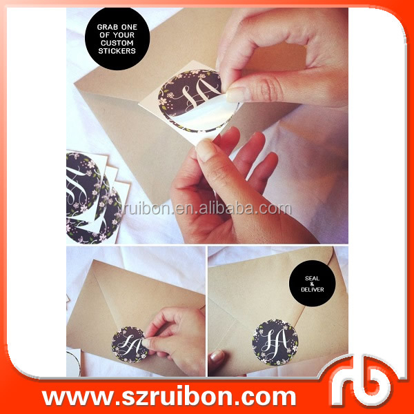 Custom envelope seals stickers,favor sticker for individual