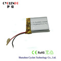 3.7V 400mah 602530 type custom lipo battery, rechargeable lithium polymer battery