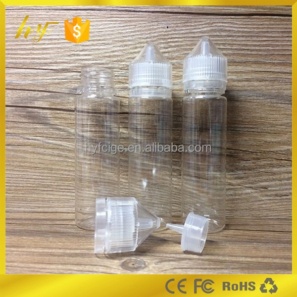 Hot selling product 30ml 60ml 120ml e liquid Unicorn PET bottle from China bottle factory
