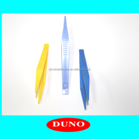 colorful Medical disposable forceps long plastic tweezers