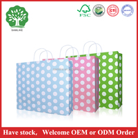Gift Latest Design Superior Quality Polka Dot Paper Bag IN STOCK