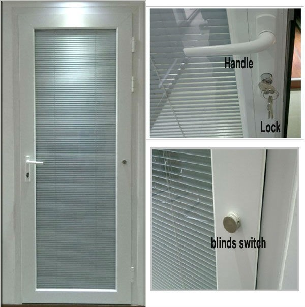 Interior office aluminum door with blinds inside buy for Office doors with windows