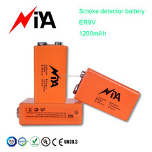 Niya brand 6f22 battery 9 volt battery 1200mAh 9V primary battery for smoke detector,multimeter