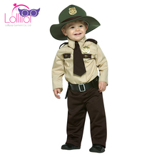 Wholesale halloween disguise costumes kids boy sherrif state trooper custom made cosplay costumes