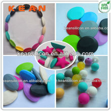 Custom Silicone Rubber Balls/Diverse Food-safe Silicone Chew Beads For Teething Necklace Mom Wear Jewelry