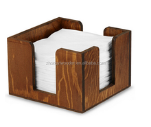 china factory FSC table standing wooden tissue bar napkin file holder box