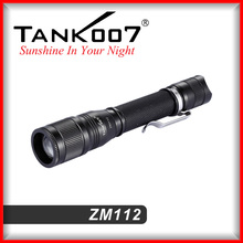 military quality zoom flashlight torch 5 modes 260 lumens with 2*AAA battery from TANK007 manufacturer