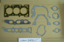 Motorcycle engine gasket set F6A OEM 11400 - 70830 engine overhaul gasket set