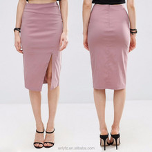 Latest Formal Ladies Suits Designs Thigh Split High-rise Waist Stretch Bengaline Skirt For Girl