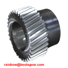 OEM cutting stainless steel 34 tooth spur gear for gearbox