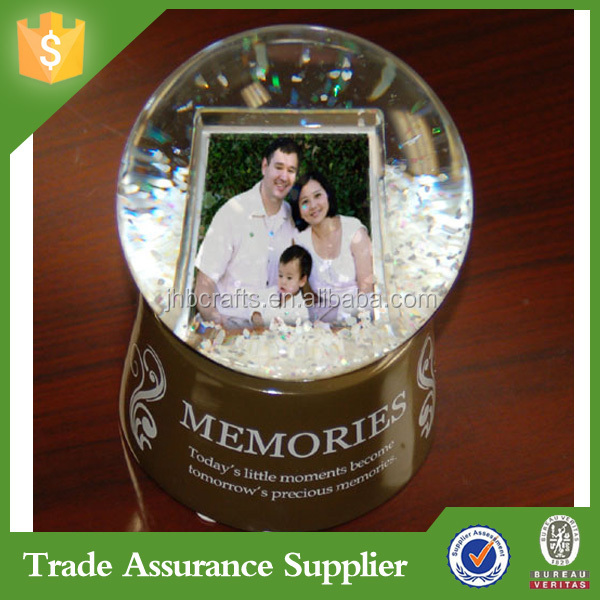 Water Globe Photo Frame With Glitter