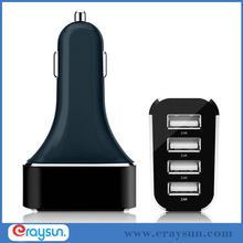 Intelligent 9.6A / 48W 4-Port USB Car Charger with SmartPower Technology for iPhone