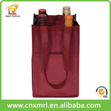2017 new style hot selling non woven 2 bottle wine tote bags