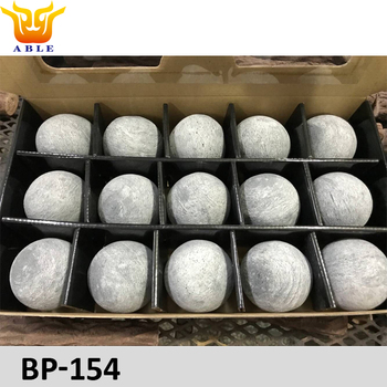 "Permacoal 3"" Fire Spheres, Outdoor Fire Pits and Fireplaces, Grey Ceramic Balls"