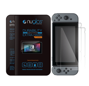 Nuglas 2.5D Round Edge 9H Anti Shock Tempered Glass Film for Nintendo Switch Screen Protector