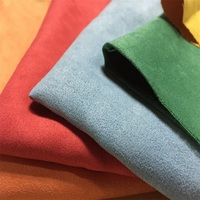 wholesale good fastness satin backing faux suede fabric
