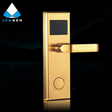 golden stainless steel rf card hotel electronic door lock magnetic hotel rf card room door lock H-100