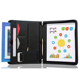 Zippered Padfolio Portfolio Binder, Interview Resume Document Organizer Internal Holders For iPad/Tablet Phone