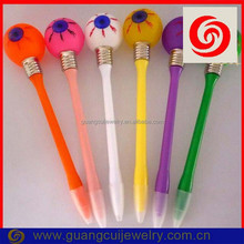 Fashion plastic eyeball pop eye pen with logo