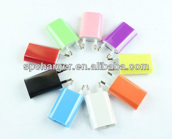 European wall usb charger 5v 1a