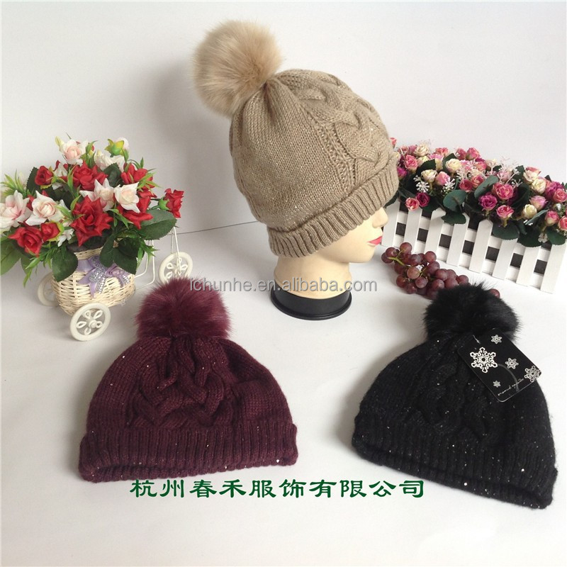 winter Fashion Warmer knitted beanie hat