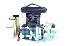 Clear Cosmetic Bag with Top Handle Travel Toiletry Case Train Bags