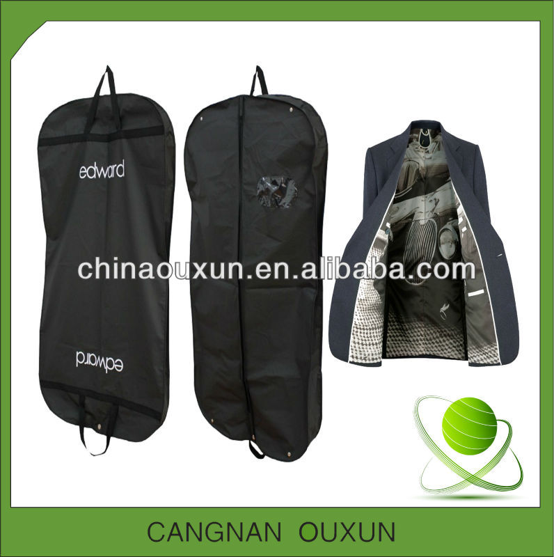 man's folding suit cover bag