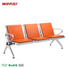 custom size benches airport hall seating waiting chair with pu cover