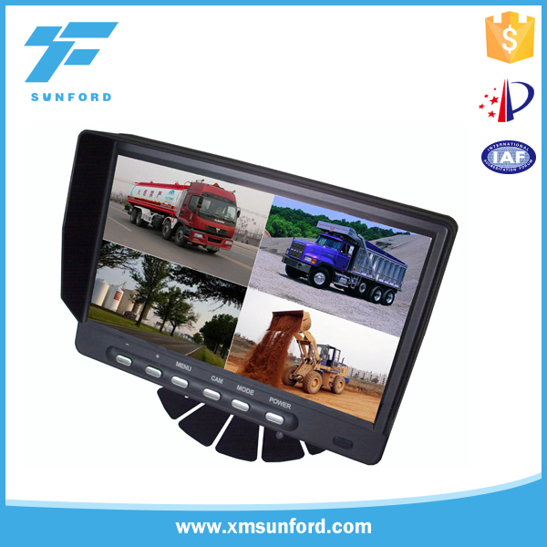 7 inch quad monitor 4 channel input lcd car monitor with quad function