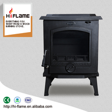 HiFlame 10kw output Cast Iron Wood Burning Stove with back boiler HF517B