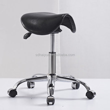 Black Leather Saddle Stool,Office Stool Chair Make In Foshan factory