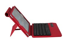 For Apple New ipad mini Wireless Bluetooth Removable Keyboard + Stand Folding Leather Case-SPM02