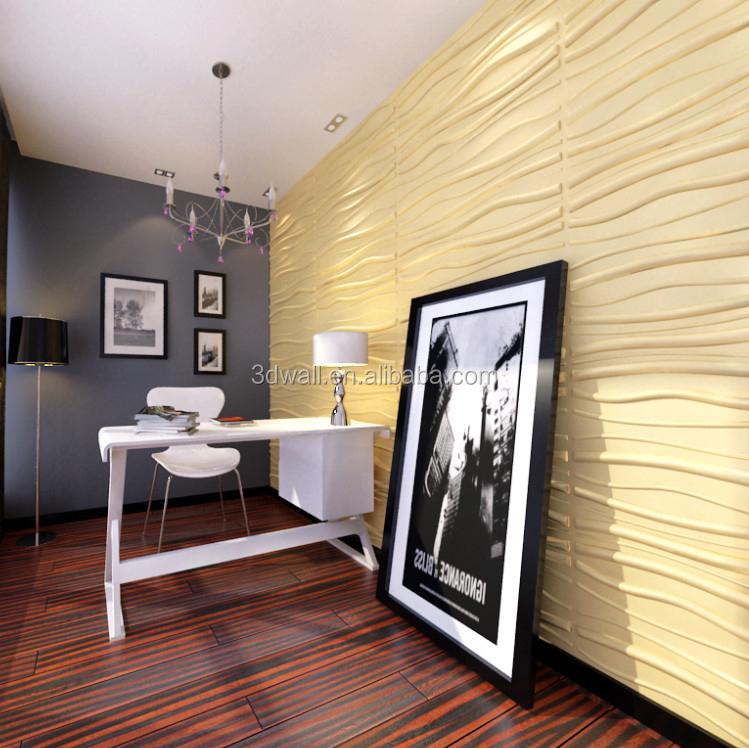 Fiber v g tale en relief d coratif 3d papier b timent - Panneau decoratif mural papier peint ...