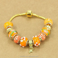 Cheap Price Gold Chain beads bracelet charm 2016 new bracelets for lady AA041