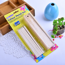 High quality basswood custom logo priting colored wooden pencil