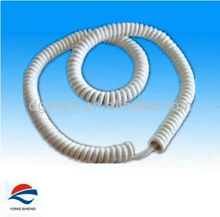 5M 8core PU insulated coiled spiral wire loom