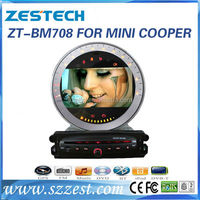 ZESTECH Factory 7 inch IN DASH Car DVD Player for BMW Mini Cooper GPS navigation Multimedia system
