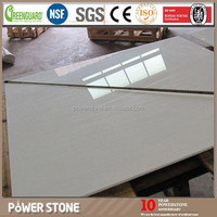 White Color Computers Desk Top from Nano Stone, Nano Wooden Vein