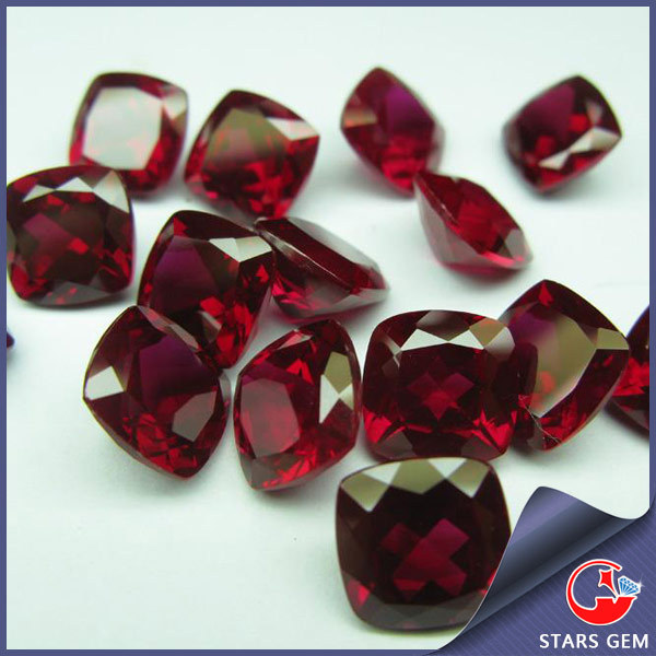 8# Cushion Square Cut Blood Red Ruby