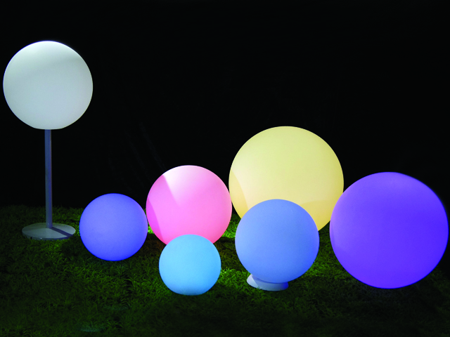 Garden outdoor decoration illuminated 16 color high quality led party ball lamp
